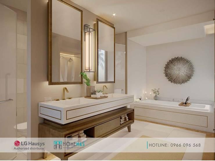 Đá nhân tạo cho dự án Maia Quy Nhơn Beach Resort:  Phòng khách by HOMEMAS ( THÀNH VIÊN CÔNG TY CỔ PHẦN QHPLUS ), Hiện đại