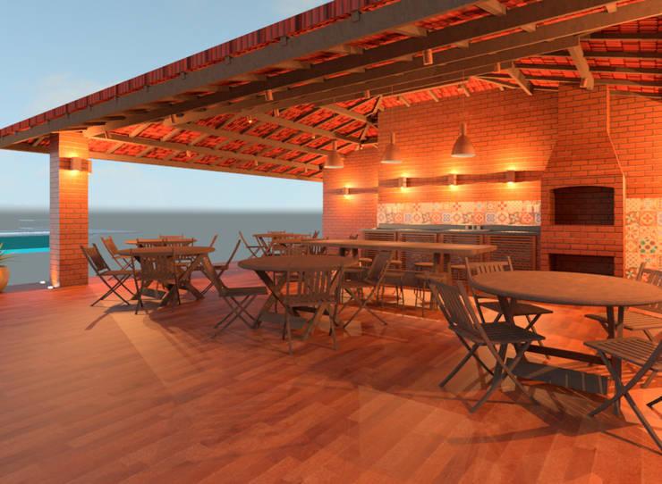 Wine cellar by Elaine Hormann Architecture, Mediterranean Bricks