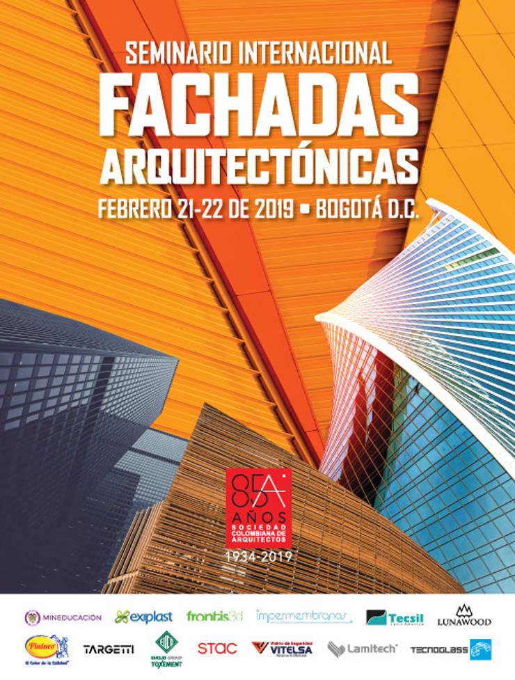 SEMINARIO INTERNACIONAL FACHADAS ARQUITECTÓNICAS: Espacios comerciales de estilo  por Sociedad Colombiana de Arquitectos, Moderno