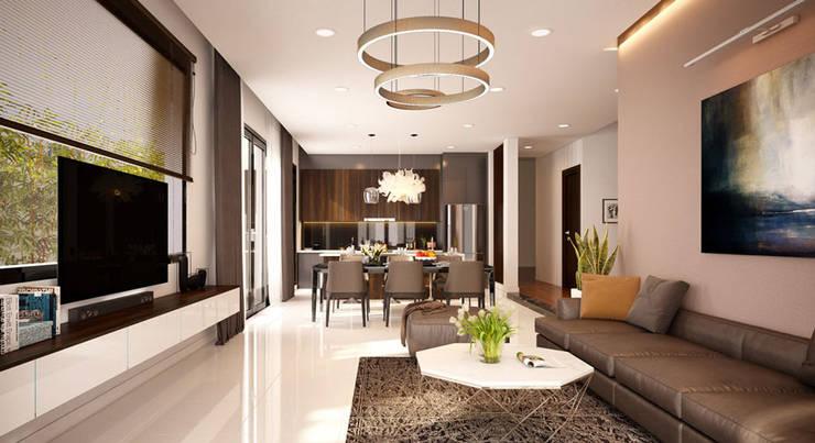 phòng khách hiện đại : hiện đại  by Nội Thất Prime, Hiện đại