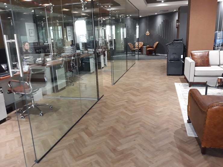 Vinyl Parquet Planks  :  Office buildings by Flooring Projects, Modern Wood-Plastic Composite