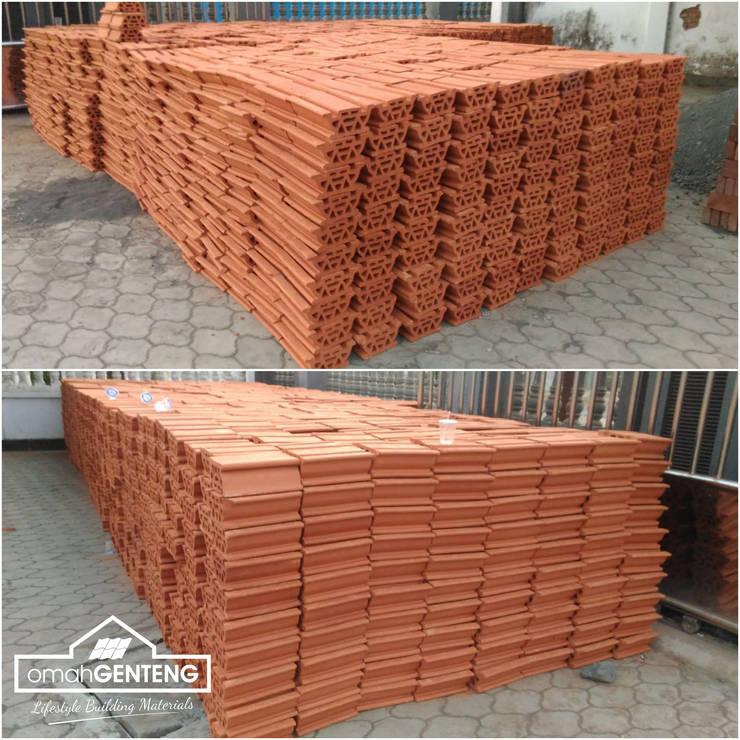 Dak Keraton Ceiling Brick - HP/WA: 08122833040 - Omah Genteng: Lantai oleh Omah Genteng, Rustic Batu Bata