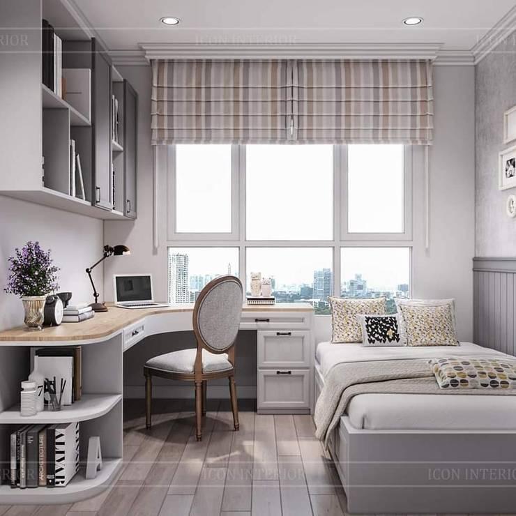 Vintage style: Phong cách nội thất hoài niệm:  Phòng ngủ by ICON INTERIOR, Mộc mạc