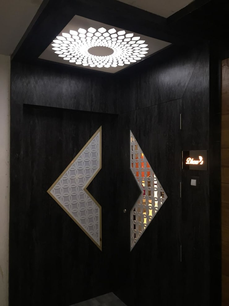 Entrance Asian style doors by VR Interior Designerss Asian Plywood