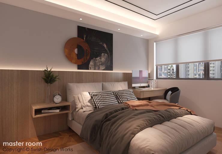 Master bedroom by Swish Design Works Modern Plywood