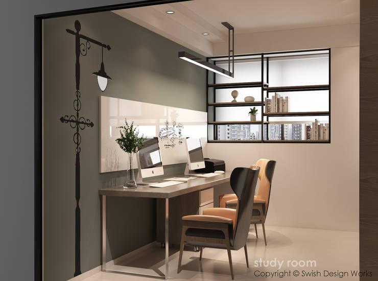 Study room Modern study/office by Swish Design Works Modern Plywood