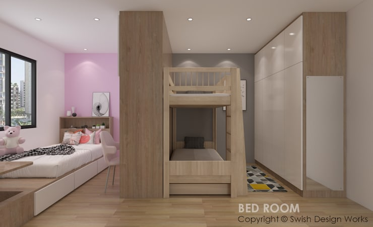 Children's bedroom by Swish Design Works Modern Plywood