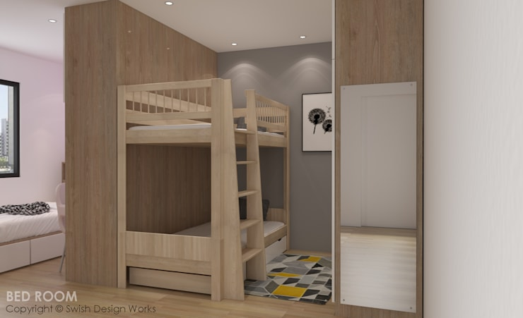 Children's bedroom Modern style bedroom by Swish Design Works Modern Plywood