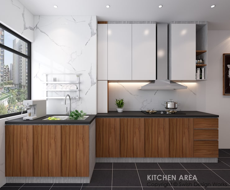 Kitchen cabinets by Swish Design Works Modern Quartz