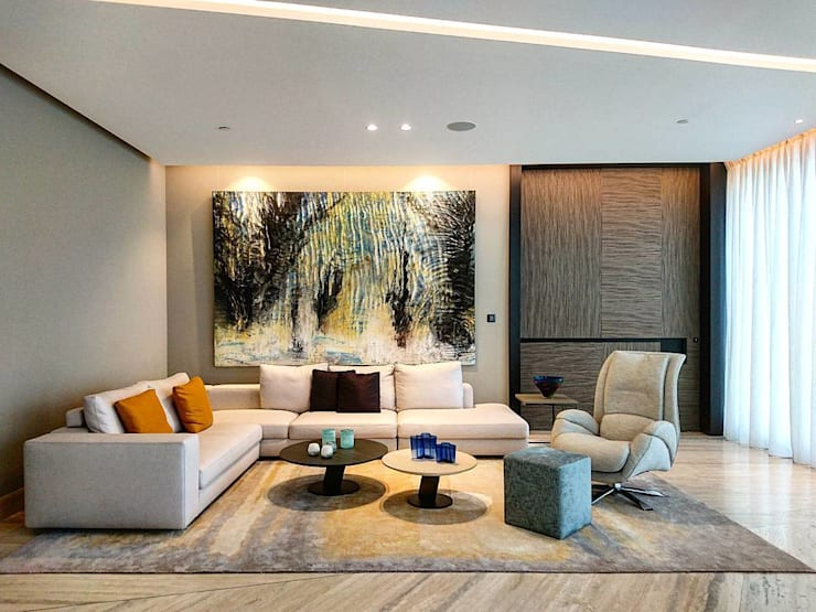 Luxury interiors Modern Living Room by Holistic Architecture Modern
