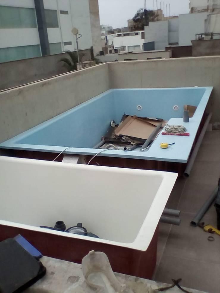 Piscina Fatima y Caja de maquinas de Pool Solei