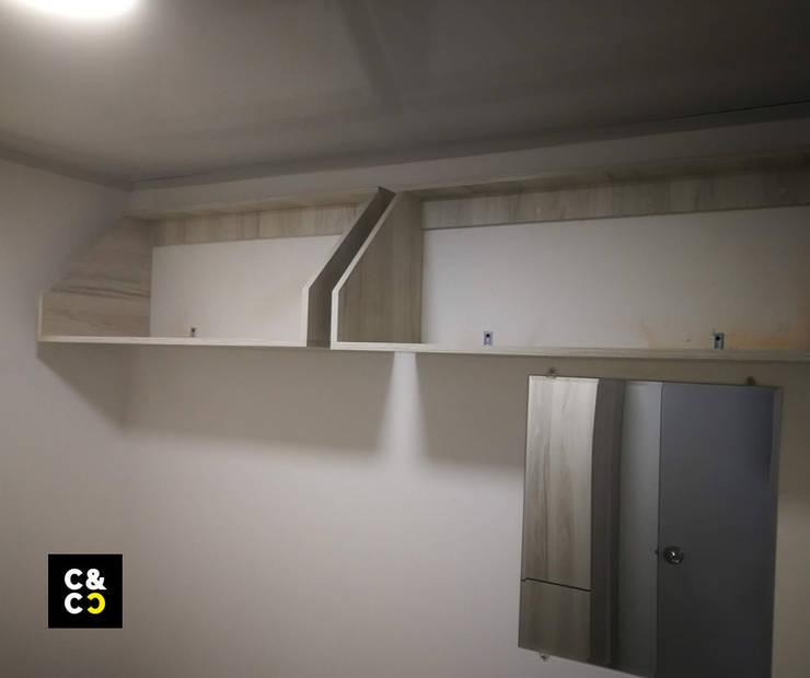 Repisa Aerea Maletero de Closets y Cocinas Cali Moderno Aglomerado