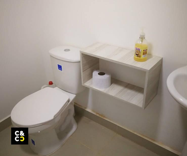 Repisa Servicios Varios. Baños de estilo minimalista de Closets y Cocinas Cali Minimalista Aglomerado