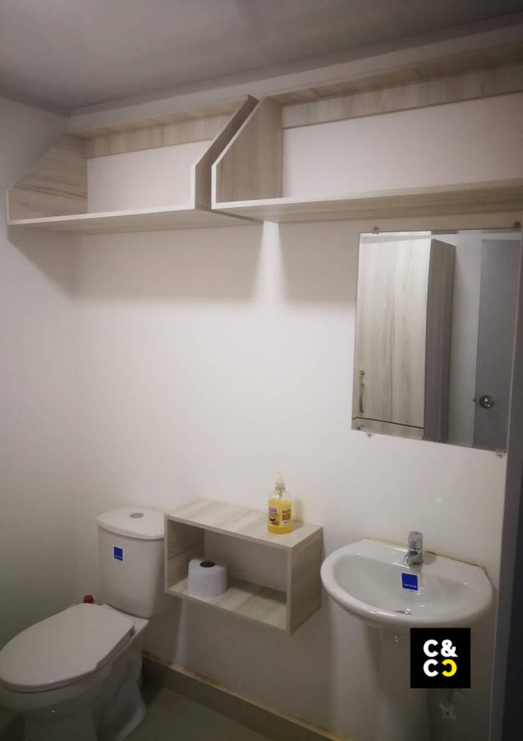 Vista General Muebles Varios. Baños de estilo minimalista de Closets y Cocinas Cali Minimalista Aglomerado