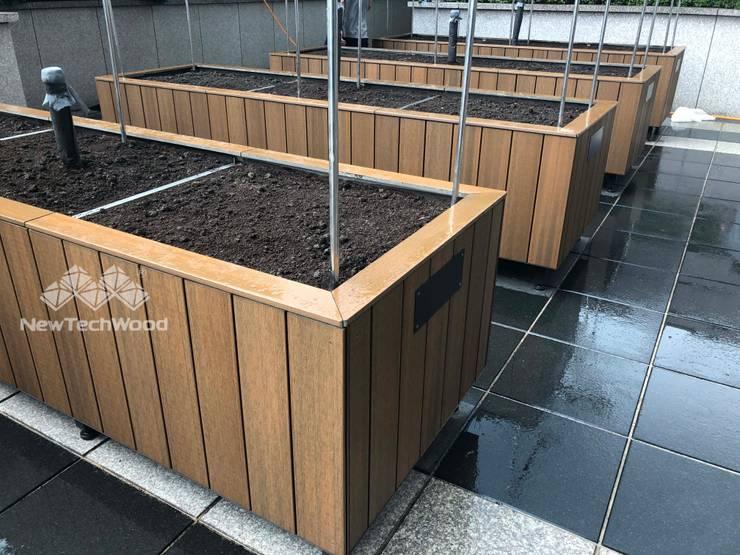 【城市裡的實驗農場—NewTechWood塑木包覆的景觀花箱】: 經典  by 新綠境實業有限公司, 古典風 塑木複合材料