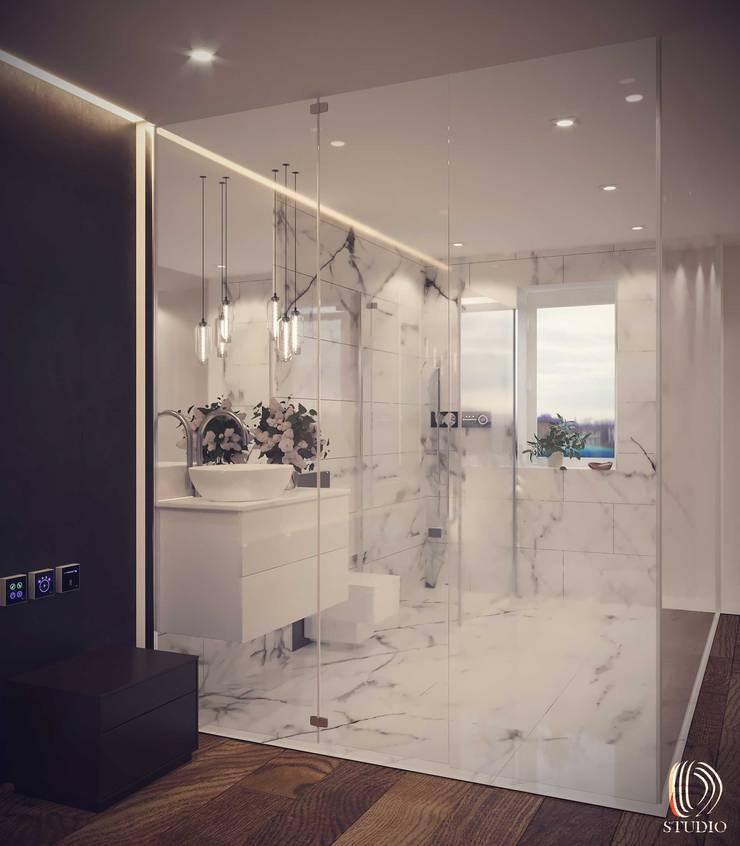 856-01-Futuristic Mock up Hotel Room Modern Bathroom by ID STUDIO DESIGN Modern Granite