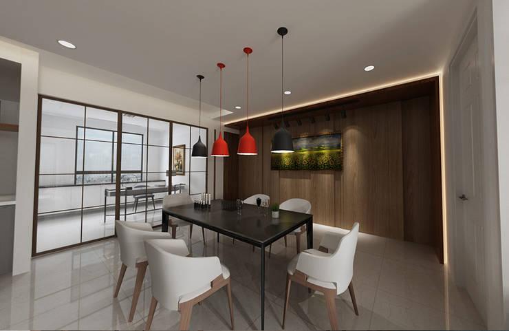 搭配嵌燈的照明 根據 雅和室內設計 現代風