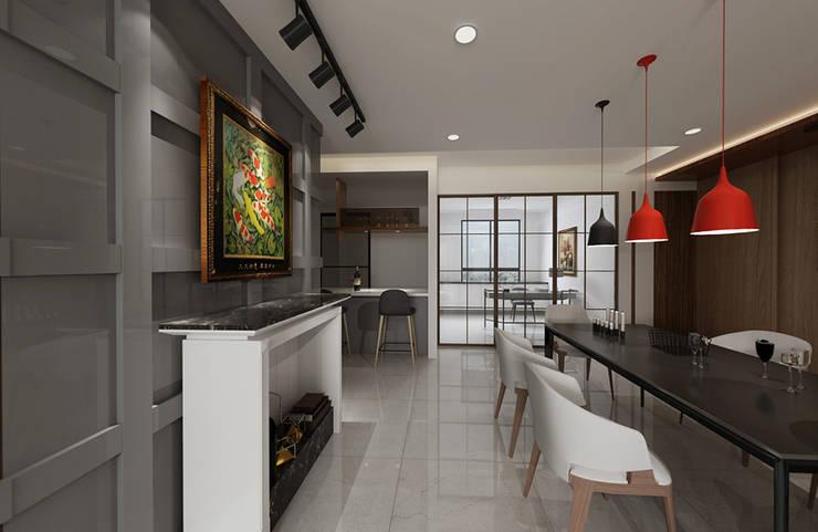 搭配嵌燈的照明結合微型展示空間 根據 雅和室內設計 現代風