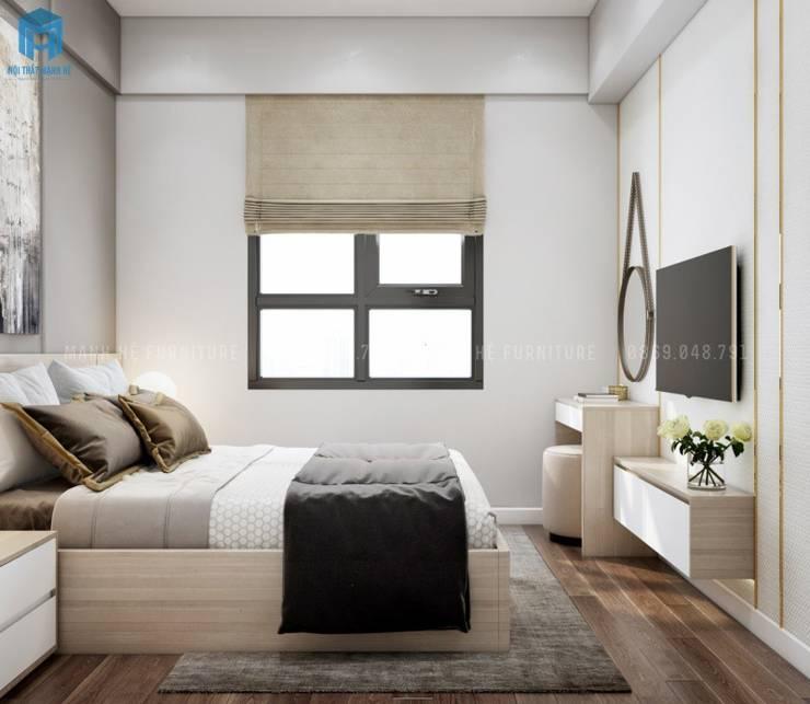 Nội thất phòng ngủ master đơn giản Phòng ngủ phong cách Địa Trung Hải bởi Công ty TNHH Nội Thất Mạnh Hệ Địa Trung Hải