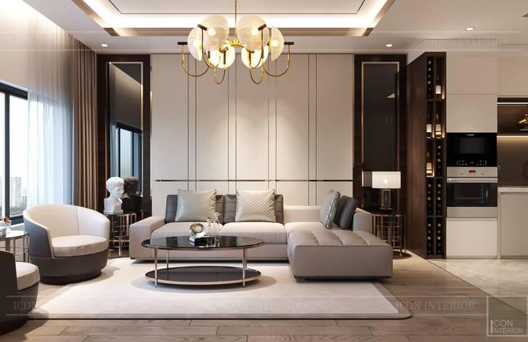 Nội thất đẳng cấp từ ICON INTERIOR: Vẻ đẹp lay động trong thiết kế Phòng khách phong cách kinh điển bởi ICON INTERIOR Kinh điển