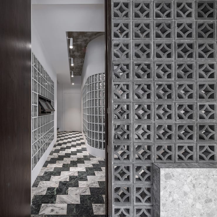 美味影像攝影棚 亞洲風玄關、階梯與走廊 根據 漢玥室內設計 日式風、東方風 水泥