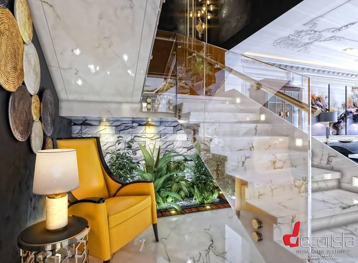 تصميم فيلا سكنية القاهرة الجديدة الممر الحديث، المدخل و الدرج من Decorista Egypt حداثي