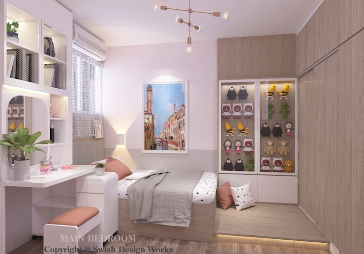 Bedroom by Swish Design Works Eclectic Plywood
