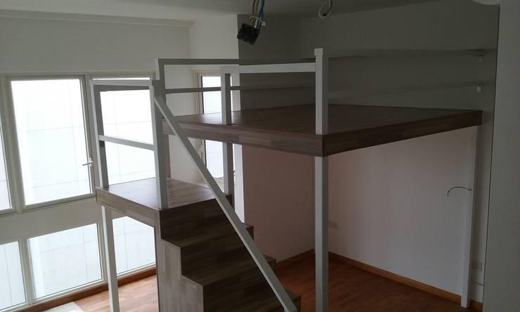 Bed Loft in a small Condominum Living Hall Modern study/office by BedLoft Modern