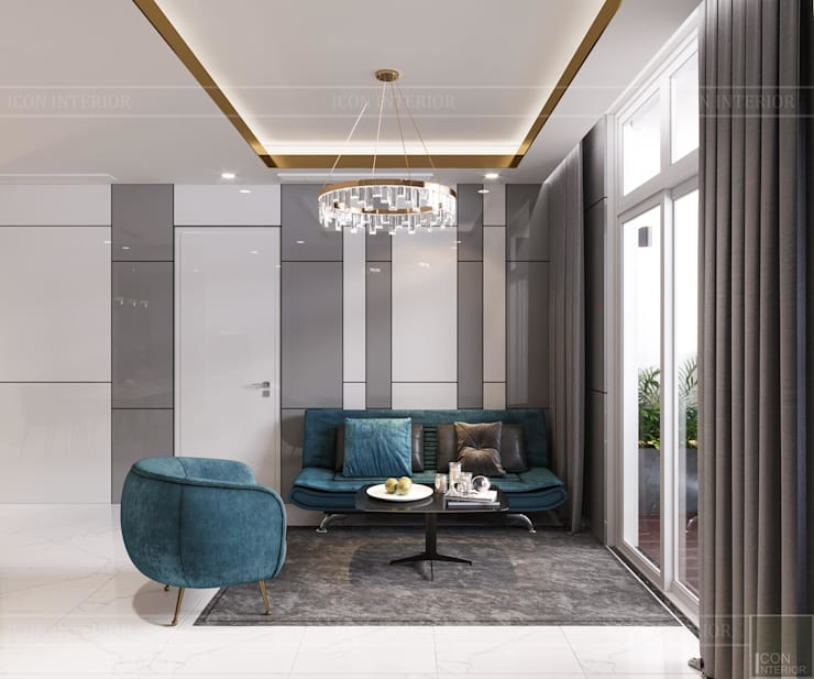 Thiết kế nội thất hiện đại: Không gian thanh lịch của căn hộ chung cư bởi ICON INTERIOR Hiện đại