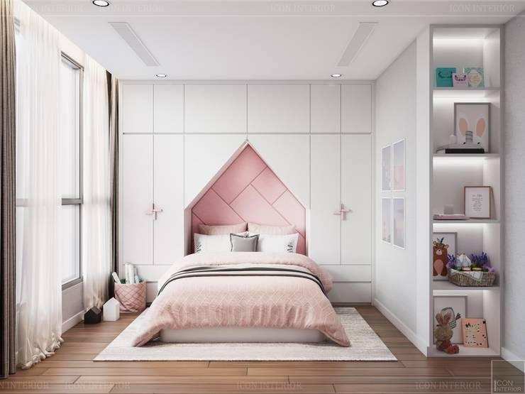 Thiết kế nội thất hiện đại: Không gian thanh lịch của căn hộ chung cư Phòng trẻ em phong cách hiện đại bởi ICON INTERIOR Hiện đại