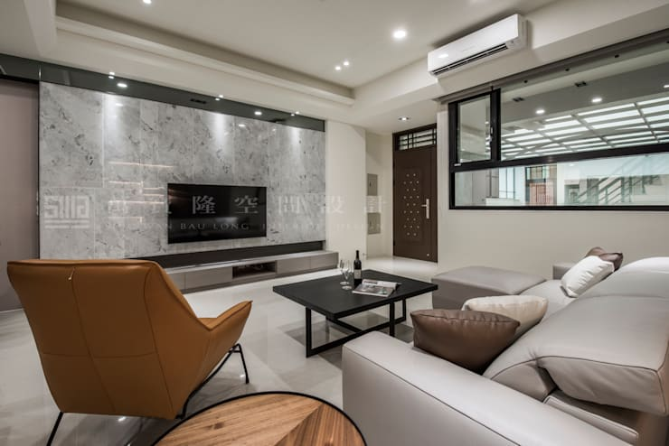 【新營-隋唐頤和/禾豐燕景】 现代客厅設計點子、靈感 & 圖片 根據 SING萬寶隆空間設計 現代風