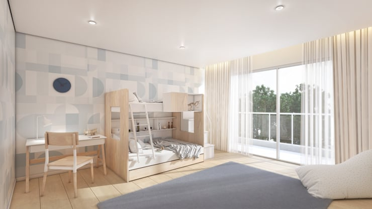 Boy's Bedroom by Dessiner Interior Architectural Eclectic