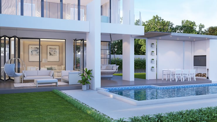 Exterior by Dessiner Interior Architectural Eclectic
