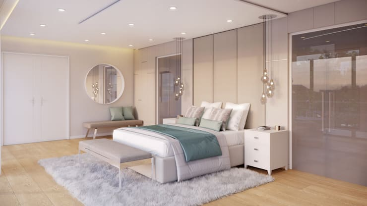 Main Bedroom 2 Eclectic style bedroom by Dessiner Interior Architectural Eclectic