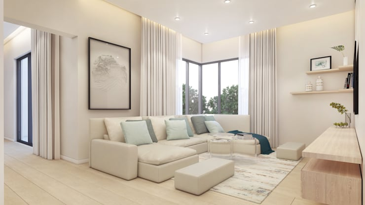 Pajama Lounge by Dessiner Interior Architectural Eclectic