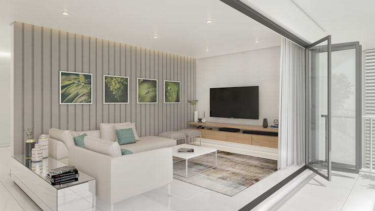 Tv Room by Dessiner Interior Architectural Eclectic