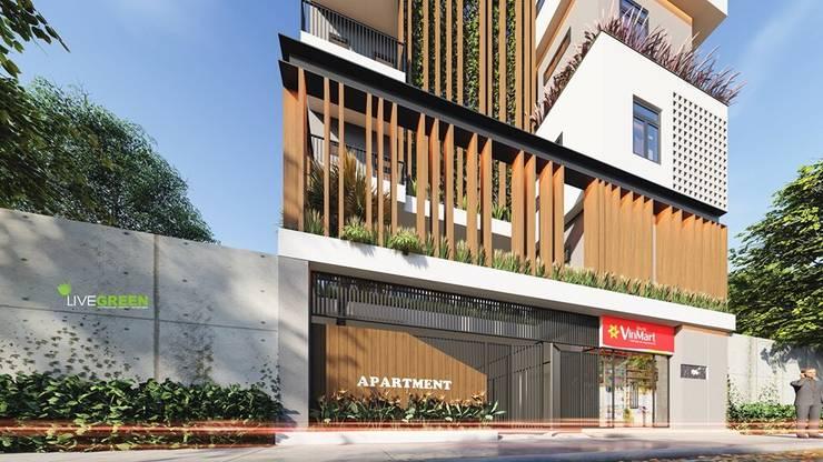 BIỆT THỰ HIỆN ĐẠI SÂN VƯỜN bởi Công ty kiến trúc Villa Modern Hiện đại