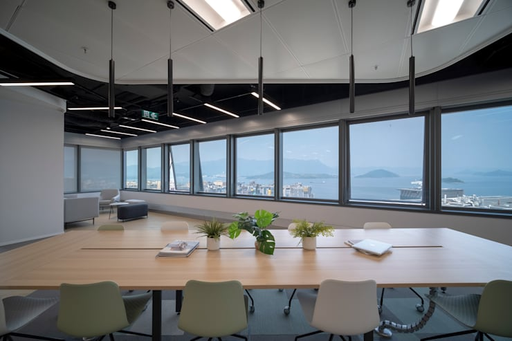 meeting space Modern office buildings by Lot Architects Ltd Modern