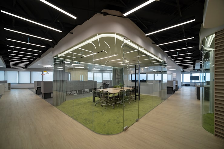 meeting room Modern office buildings by Lot Architects Ltd Modern