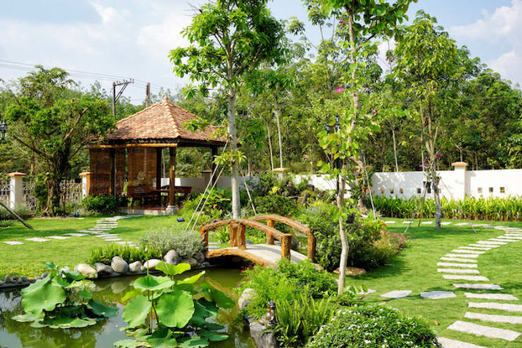 THIẾT KẾ SÂN VƯỜN bởi Việt Architect Group Hiện đại