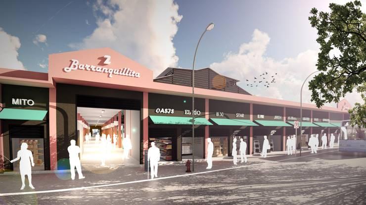 Fachada Mercado Barranquillita. de Oleb Arquitectura & Interiorismo Tropical