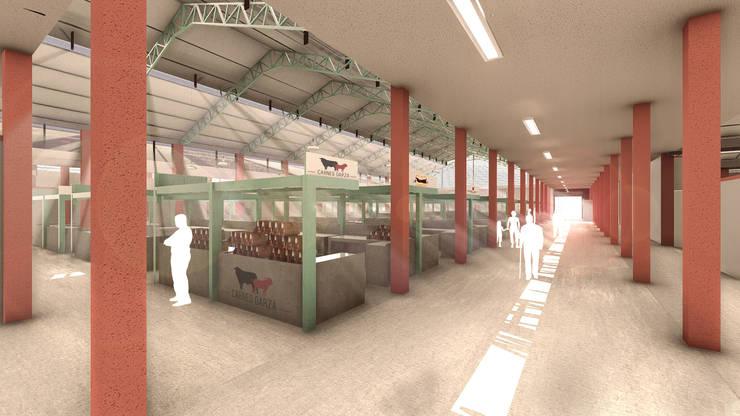 Espacio interior puestos de Carnes, Mercado de Barranquillita. de Oleb Arquitectura & Interiorismo Tropical