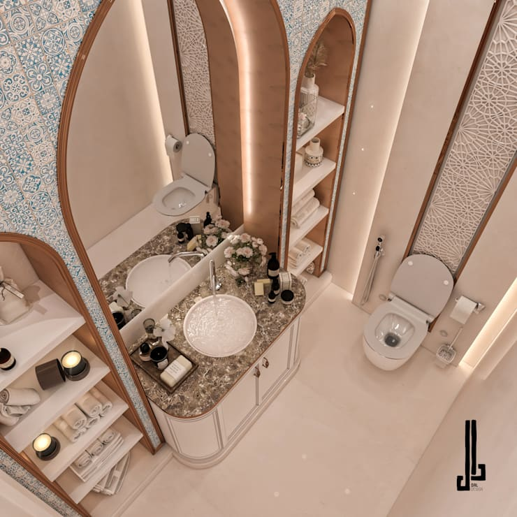 Private palace Modern Bathroom by dal design office Modern