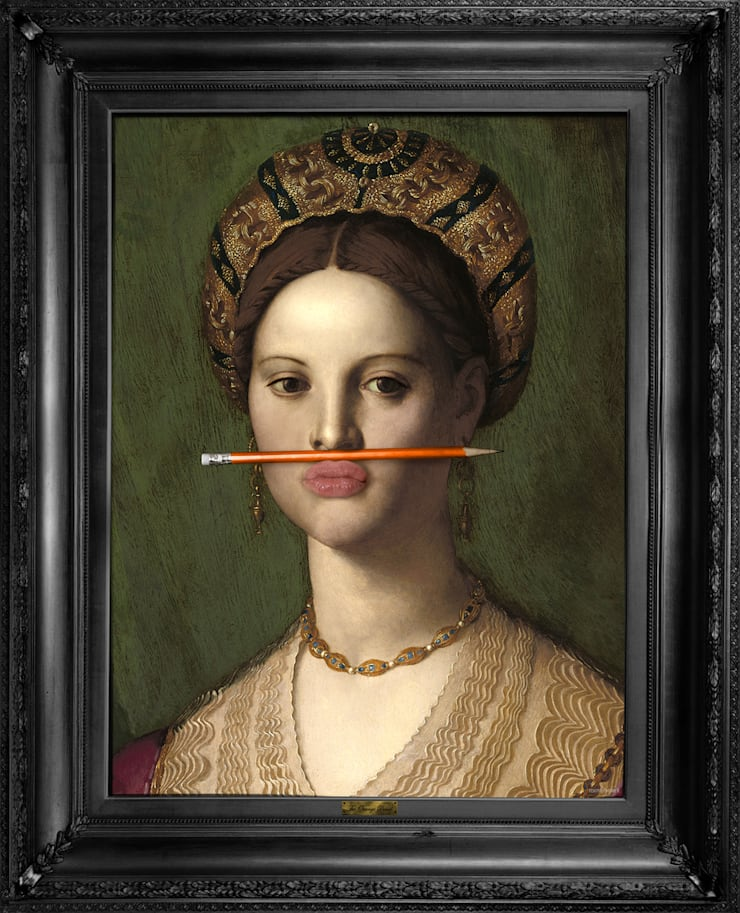 'The Orange Pencil' Canvas: classic  by Mineheart US, Classic