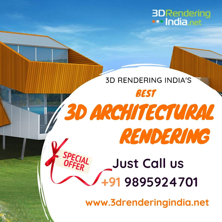 3D architectural rendering services, 3d building rendering by 3D Rendering India.net Asian