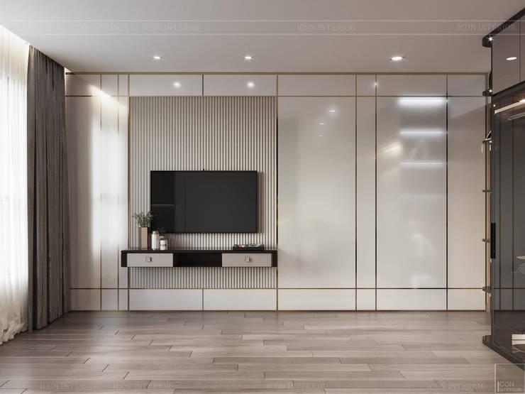 Thiết kế căn hộ hiện đại - mảnh ghép cuối hoàn thiện cuộc sống trong mơ Phòng ngủ phong cách hiện đại bởi ICON INTERIOR Hiện đại