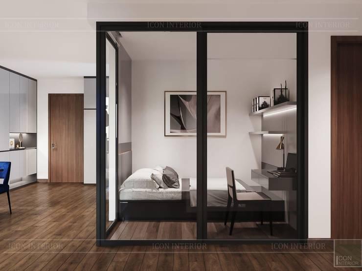 Thiết kế căn hộ hiện đại – mảnh ghép cuối hoàn thiện cuộc sống trong mơ Phòng ngủ phong cách hiện đại bởi ICON INTERIOR Hiện đại