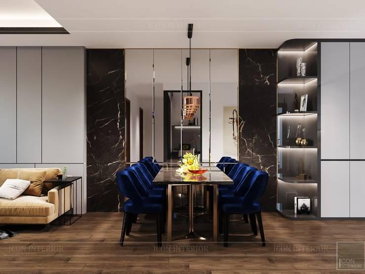 Thiết kế căn hộ hiện đại – mảnh ghép cuối hoàn thiện cuộc sống trong mơ Phòng ăn phong cách hiện đại bởi ICON INTERIOR Hiện đại