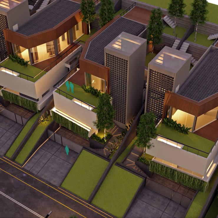 Aerial Malam Oleh GUBAH RUANG studio Modern Kayu Wood effect