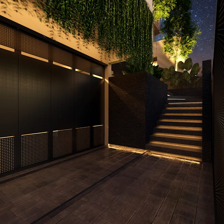 Entrance Oleh GUBAH RUANG studio Modern Aluminium/Seng